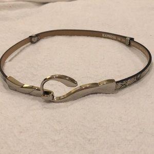 Snake skin adjustable Belt from Express